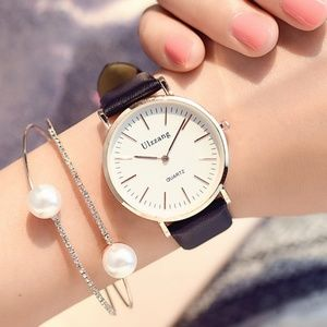 Accessories - ⌚️NEW⌚️ Exquisite Leather Strap Quartz Watch
